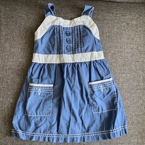 Sweet nautical style dress w/pockets and buttons.